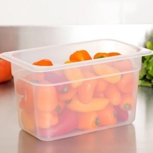 Cambro 1/4 Size Translucent Polypropylene Food Pan