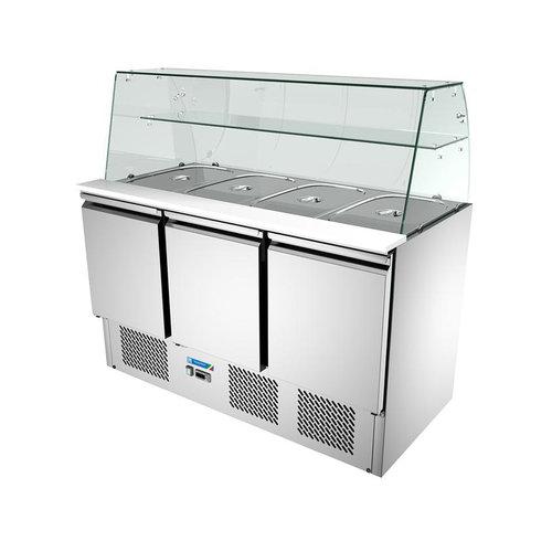 Tecnofrigo Salad Chiller Three Door With Glass