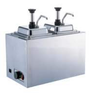 SS Sauce Warming Pump Double with Electric 2 Head Cheese