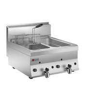2 Basins Gas Deep Fat Fryer 8+8 LT