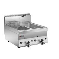 2 Basins Gas Deep Fat Fryer 8+8 LT
