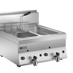 Baron 2 Basins Gas Deep Fat Fryer 8+8 LT