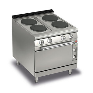 Baron Four Burner Electric Cook Top With Electric Oven