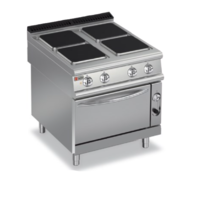 Electric 4 Square Hotplate On Eelectric Oven