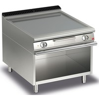 Electric Smooth Plate Griddle On Open Cupboard