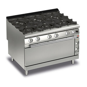 Baron 6 Burner Gas Range With Large Oven | Q90PCFL/G1201