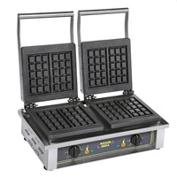 Electric Double Waffle Cast Iron Machine - GED 10