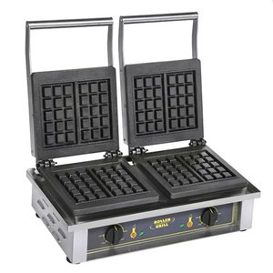 Roller Grill Electric Double Waffle Cast Iron Machine - GED 10