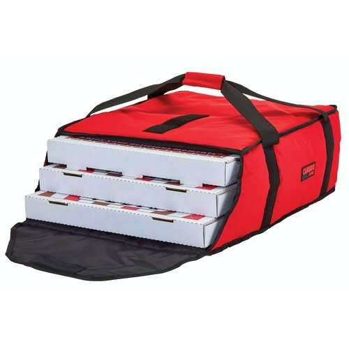 """Cambro Cambro GBP220521 Customizable Insulated Red Pizza Delivery GoBag™ - Holds up to (2) 20"""" or (3) 18"""" Pizza Boxes"""