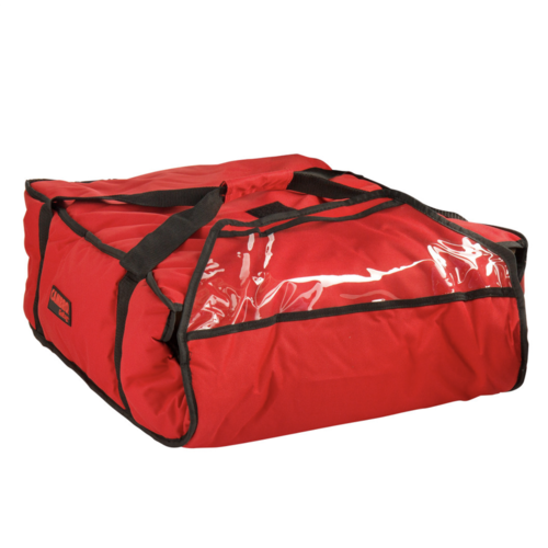 "Cambro Cambro GBP318521 Customizable Insulated Red Pizza Delivery GoBag™ - Holds up to (3) 18"" or (4) 16"" Pizza Boxes"