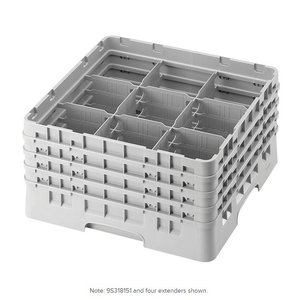 Cambro Soft Gray Camrack 9 Compartment Glass Rack | 9S318151