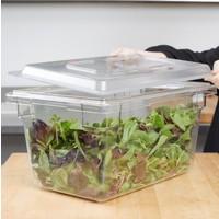Clear Food Storage Box Flat Lid | 1218CCW135