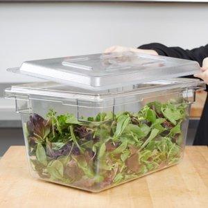 Cambro Clear Food Storage Box Flat Lid   1218CCW135