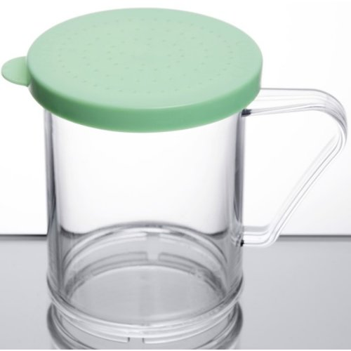 Cambro 10 oz. Polycarbonate Shaker with Green Lid | 96SKRF135 | Camwear | Fine Ground Product