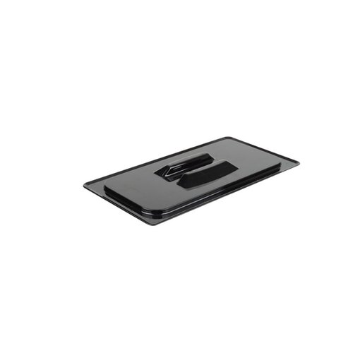 Cambro 1/3 Size Black Polycarbonate Handled Lid   30CWCH110
