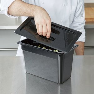 Cambro 1/3 Size Black Polycarbonate Handled Lid | 30CWCH110