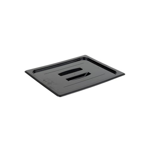 Cambro 1/2 Size Black Polycarbonate Handled Lid | 20CWCH110 | Camwear