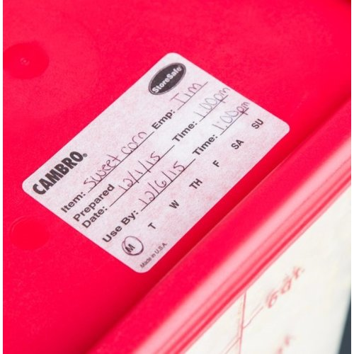 Cambro StoreSafe Food Rotation Labels   23SL