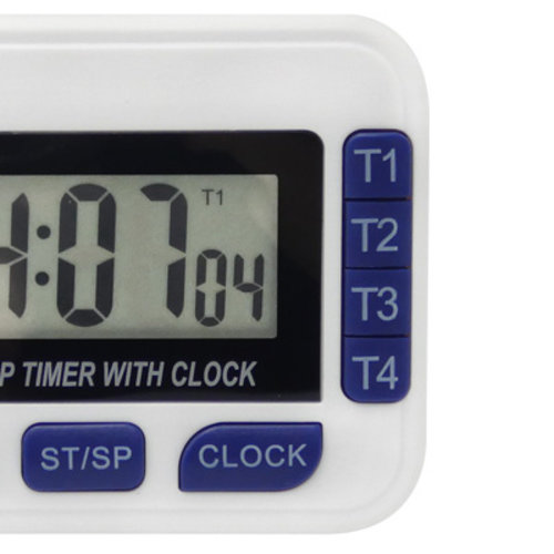 ALLA-FRANCE Digital Timer - 99 H 59 Min 59 Sec - 4 simultaneous timers