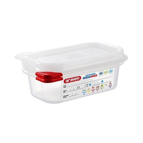Araven GN 1/9 colour coded with lid | (0,6L)