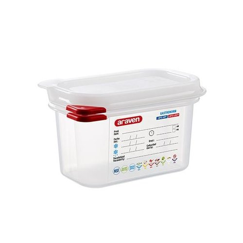 Araven GN 1/9 colour coded with lid | (1L)