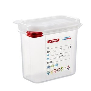 Araven GN 1/9 colour coded with lid | (1,5L)
