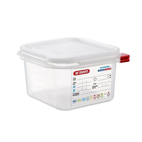 Araven GN 1/6 colour coded with lid | (1,7L)
