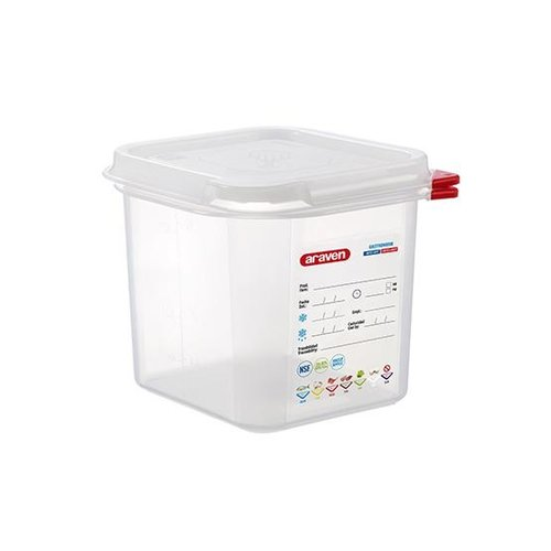 Araven GN 1/6 colour coded with lid | (2,6L)