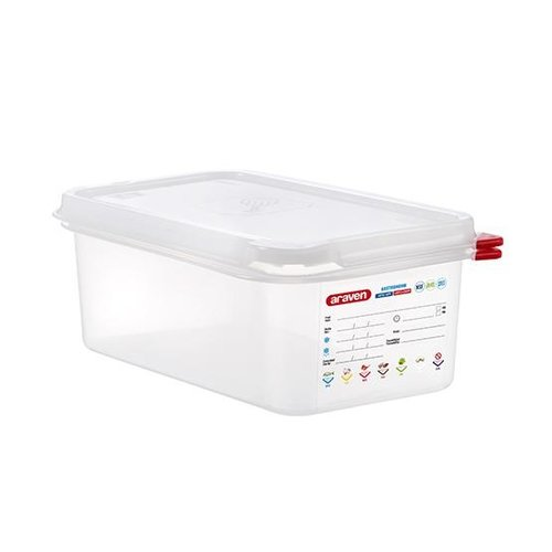Araven GN 1/4 colour coded with lid | (2,8L)