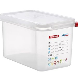 Araven GN 1/4 colour coded with lid | (4,3L)