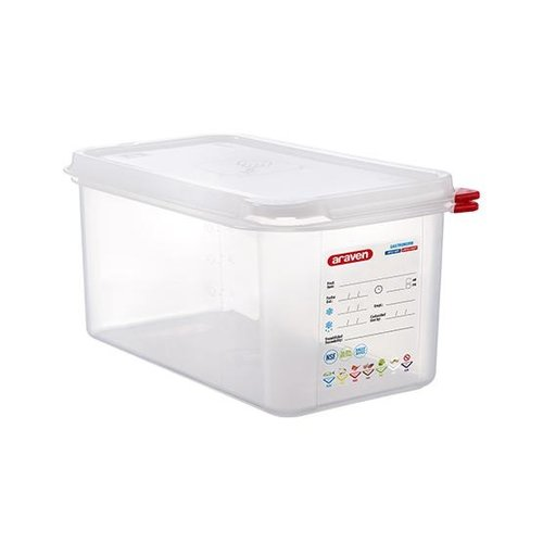 Araven GN 1/3 colour coded with lid - (6L)