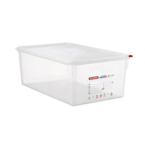 Araven GN 1/1 colour coded with lid - (28L)