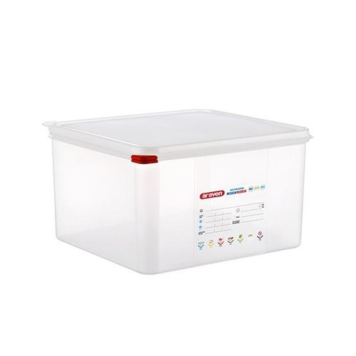 Araven GN 2/3 colour coded with lid - (19L)
