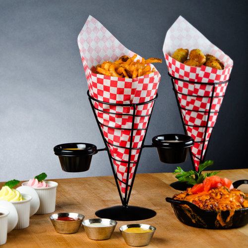 TableCraft Wire Cone Basket Without Ramekins | ACR259