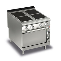Four Burner Solid Plate Electric Cook Top With Electric Oven | 90PCF/E801