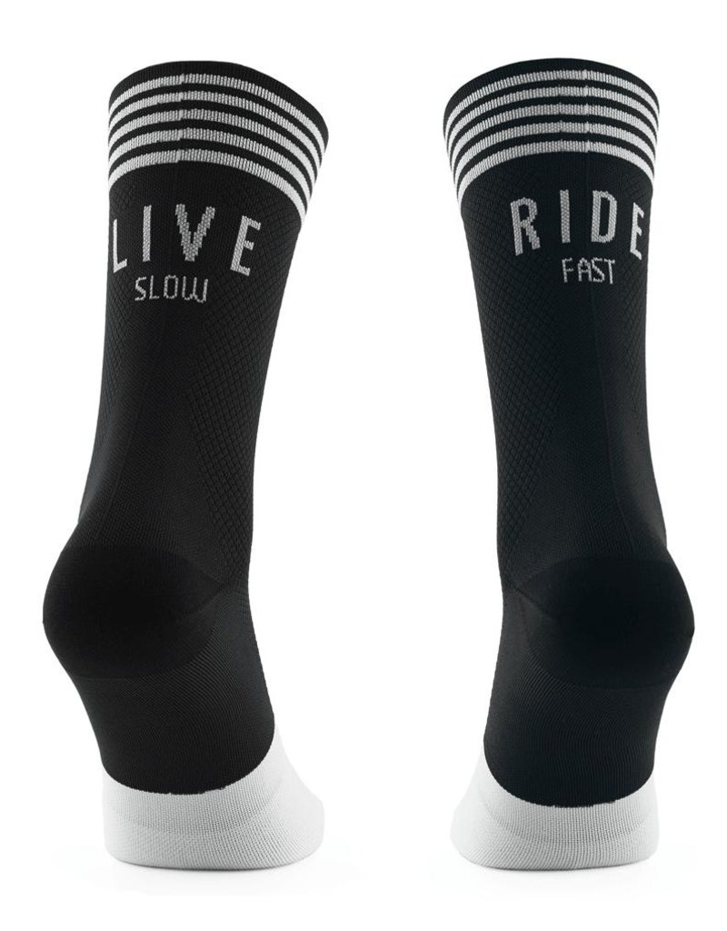 Live Slow Ride Fast Collection Live Slow Ride Fast - Socks - Black