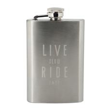Live Slow Ride Fast Live Slow Ride Fast La Bomba Hip flask