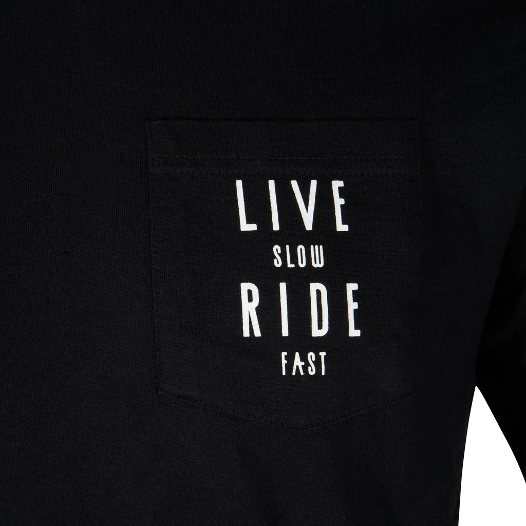 Live Slow Ride Fast T-Shirt Live Slow Ride Fast Pocket