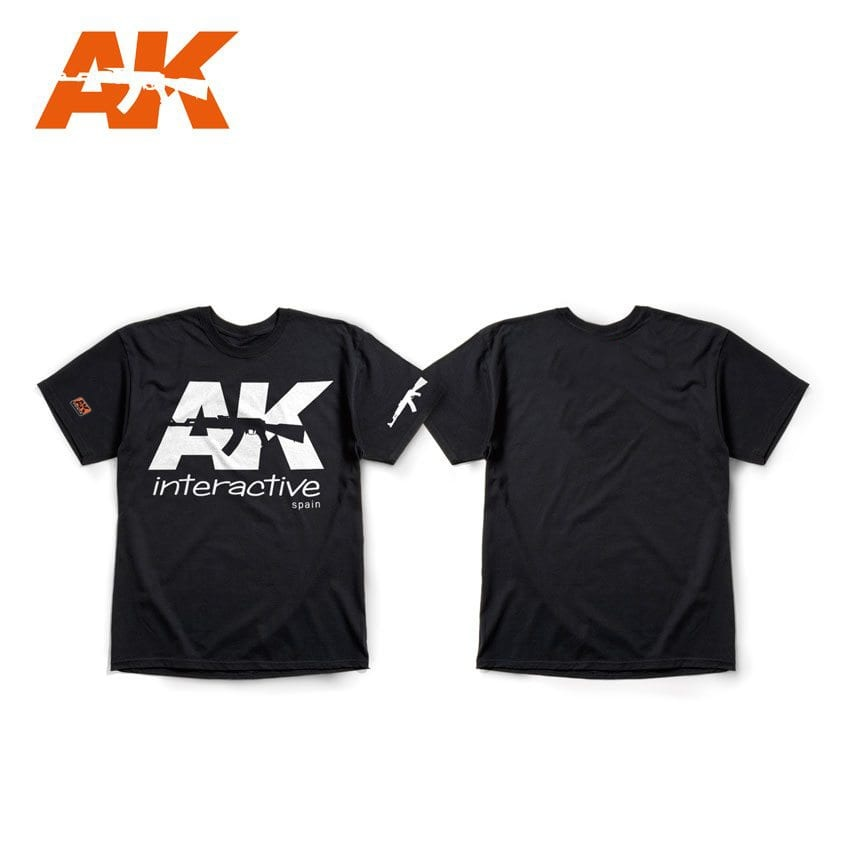 AK-Interactive Merchandise - Ak Official T-Shirt  Black (White Logo) - AK-051