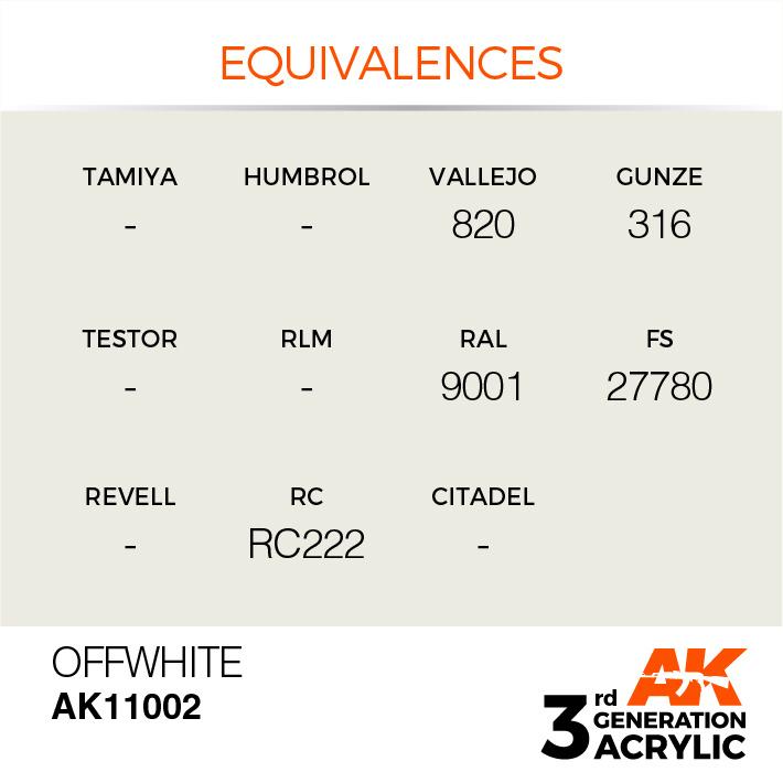 AK-Interactive Offwhite Acrylic Modelling Color - 17ml - AK-11002