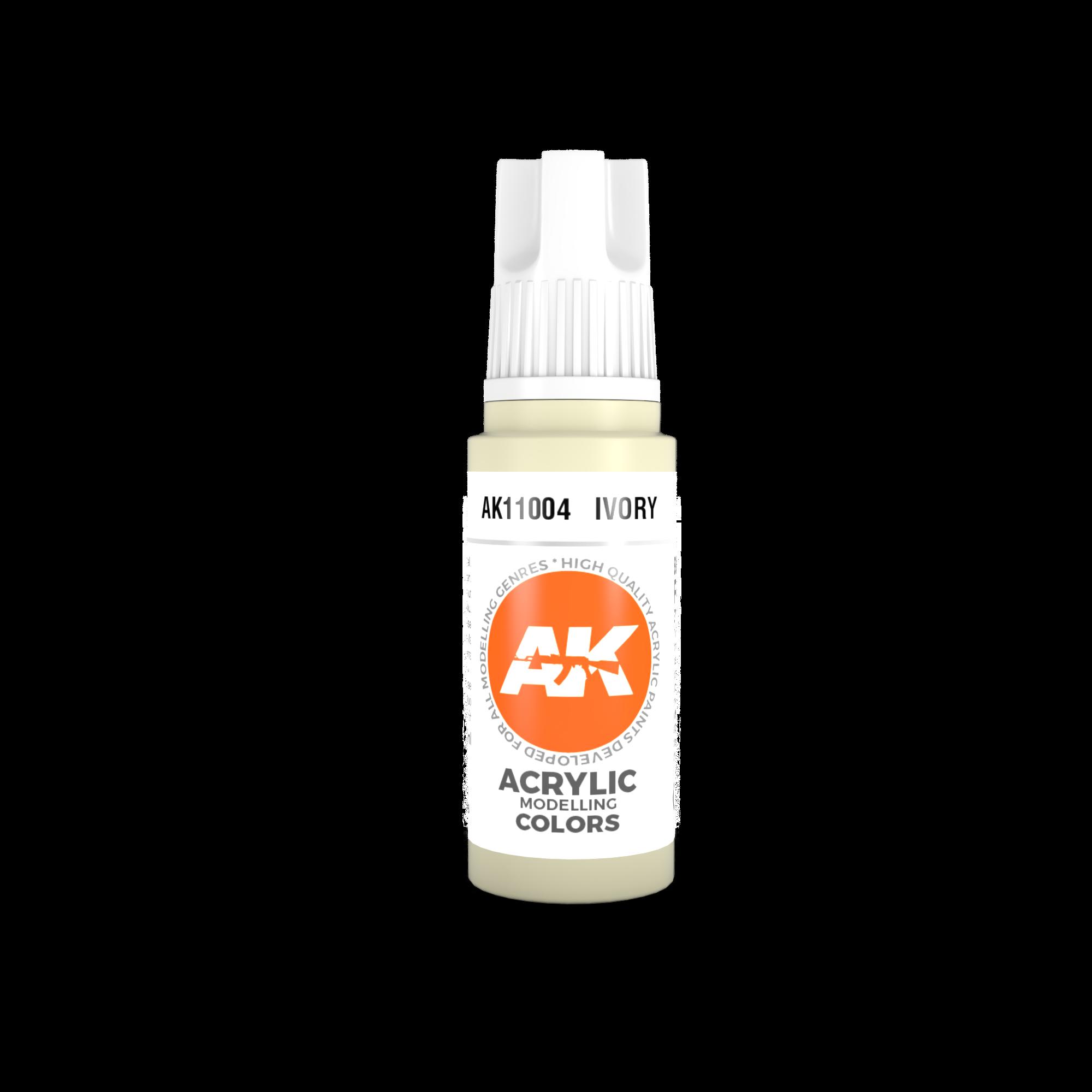 AK-Interactive Ivory Acrylic Modelling Color - 17ml - AK-11004