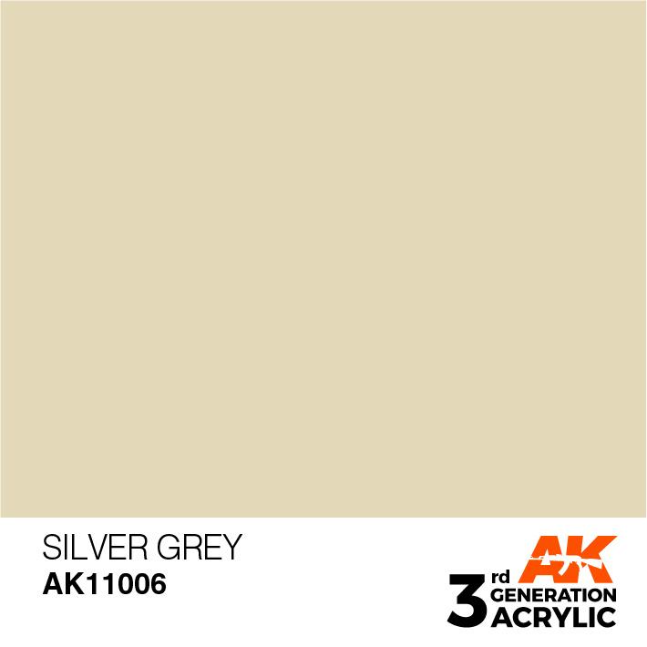 AK-Interactive Silver Grey Acrylic Modelling Color - 17ml - AK-11006