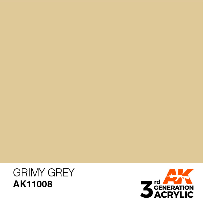 AK-Interactive Grimy Grey Acrylic Modelling Color - 17ml - AK-11008