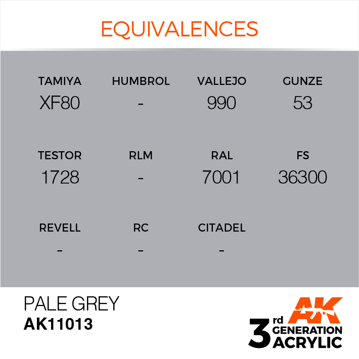 AK-Interactive Pale Grey Acrylic Modelling Color - 17ml - AK-11013