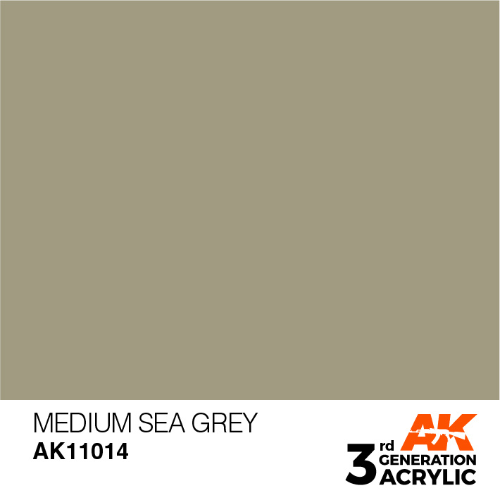 AK-Interactive Medium Sea Grey Acrylic Modelling Color - 17ml - AK-11014