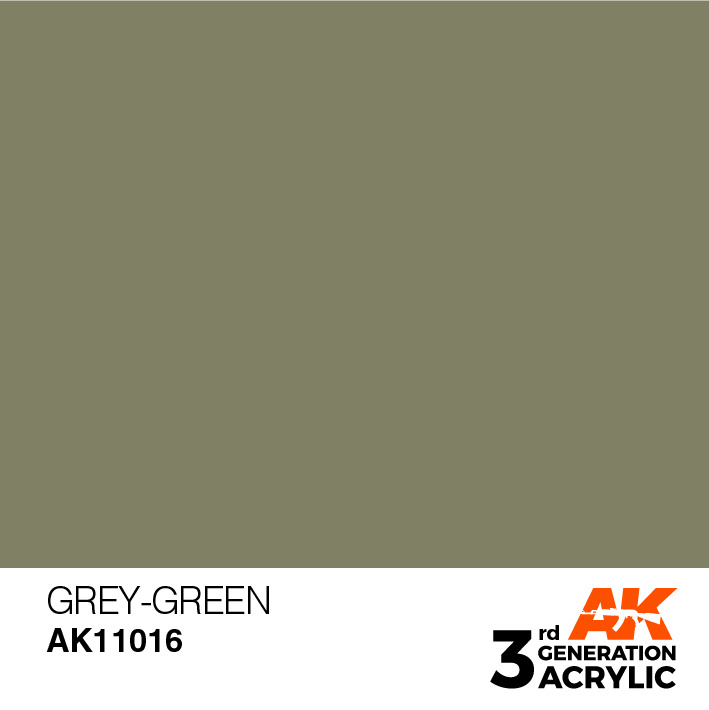 AK-Interactive Grey-Green Acrylic Modelling Color - 17ml - AK-11016