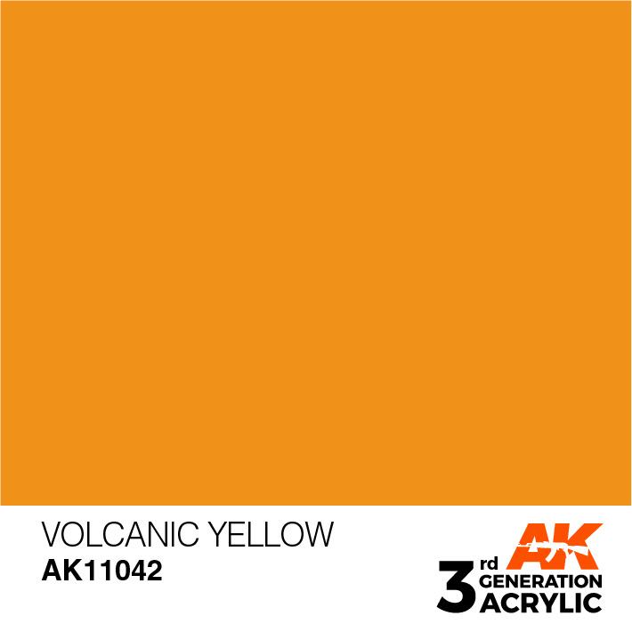 AK-Interactive Volcanic Yellow Acrylic Modelling Color - 17ml - AK-11042