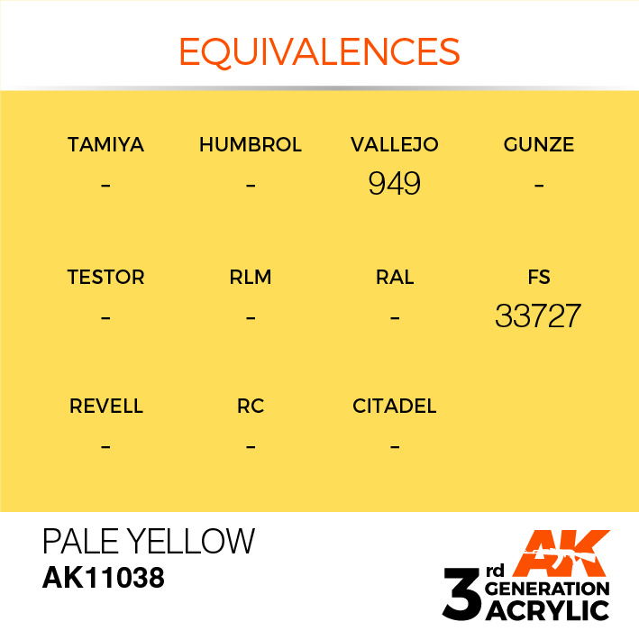 AK-Interactive Pale Yellow Acrylic Modelling Color - 17ml - AK-11038