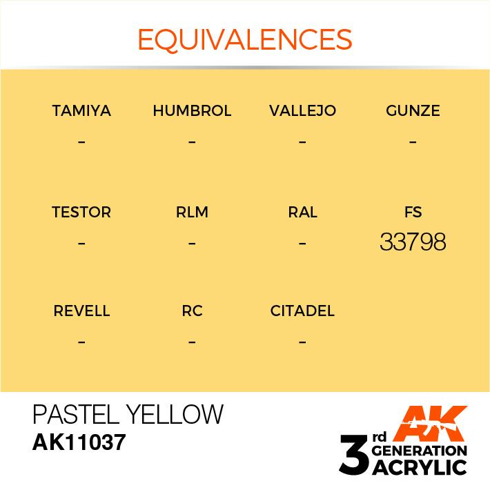 AK-Interactive Pastel Yellow Acrylic Modelling Color - 17ml - AK-11037