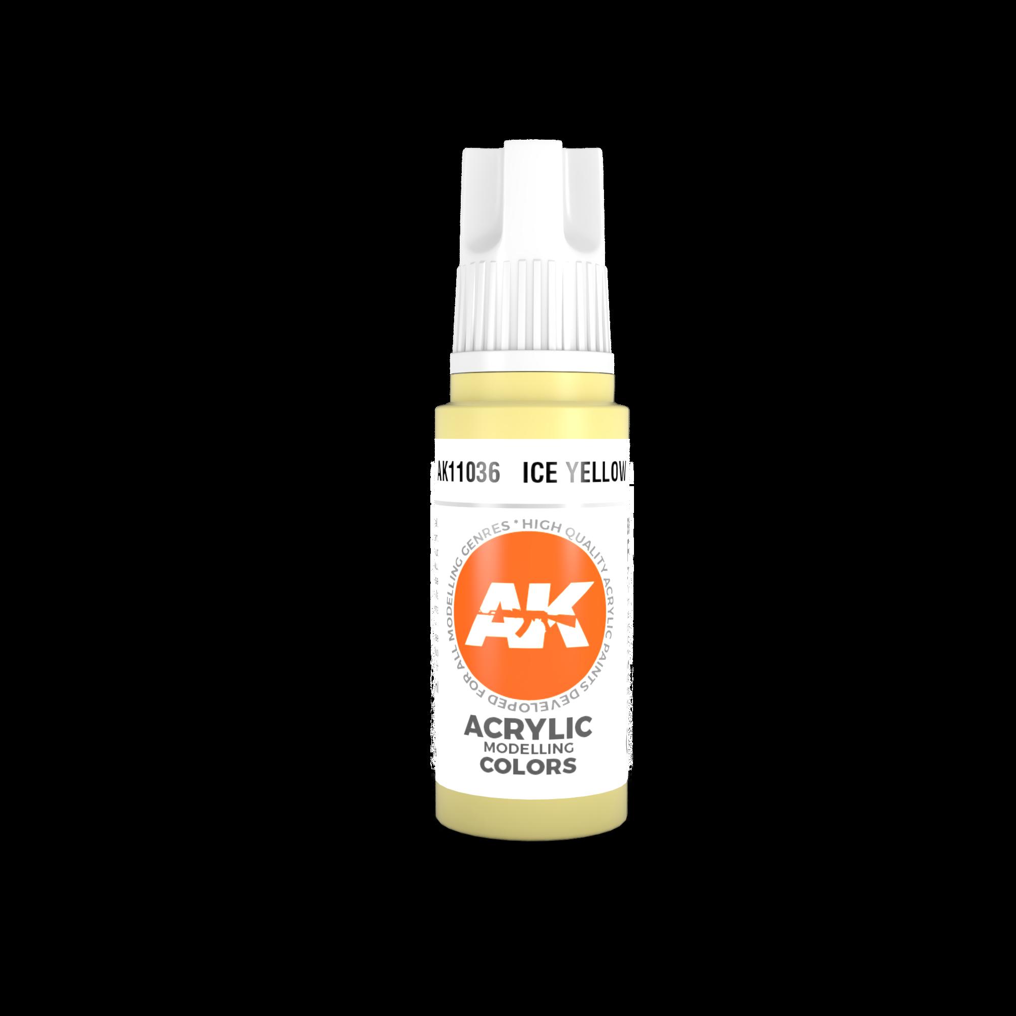 AK-Interactive Ice Yellow Acrylic Modelling Color - 17ml - AK-11036